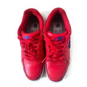 Champion red sneakers/kid 5.5, women 6.5
